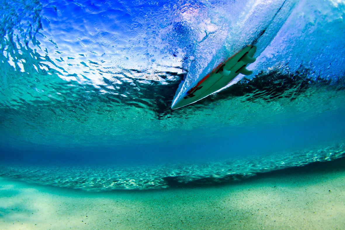 Under Duranbah Surf